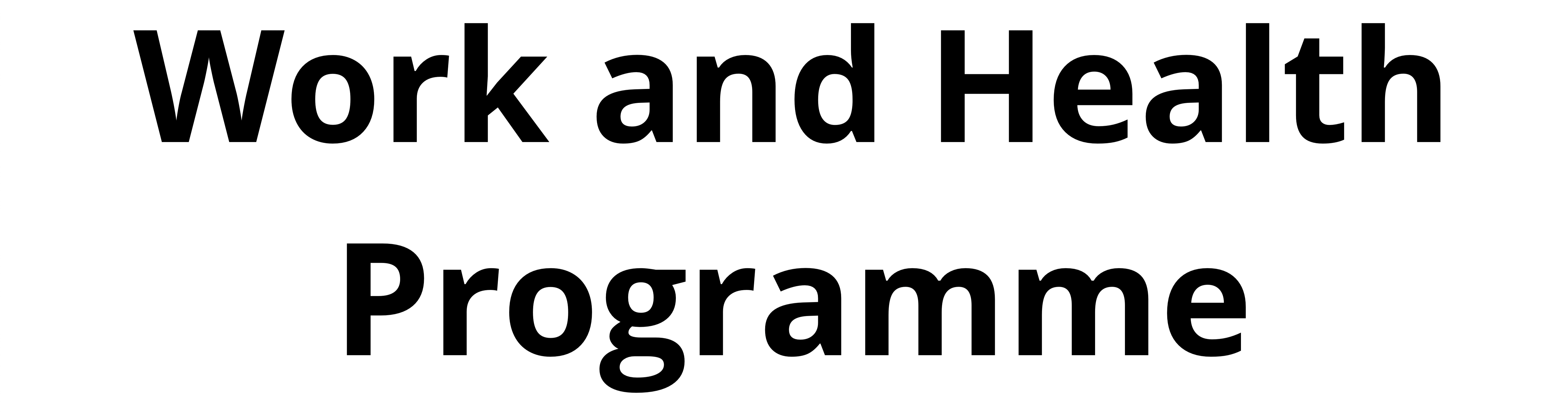 Work and Health Programme Portal